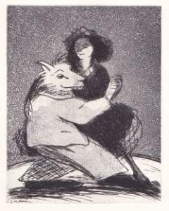 loup et jeune fille